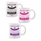 Mok Awesome Nurse met Naam Opdruk