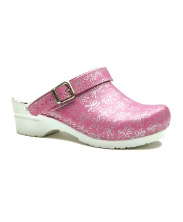 Toffeln Flexi Clog Pink Pattern