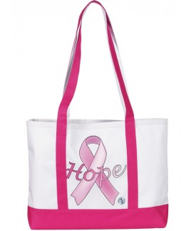 Grote Canvas Tas Hope Pink Ribbon